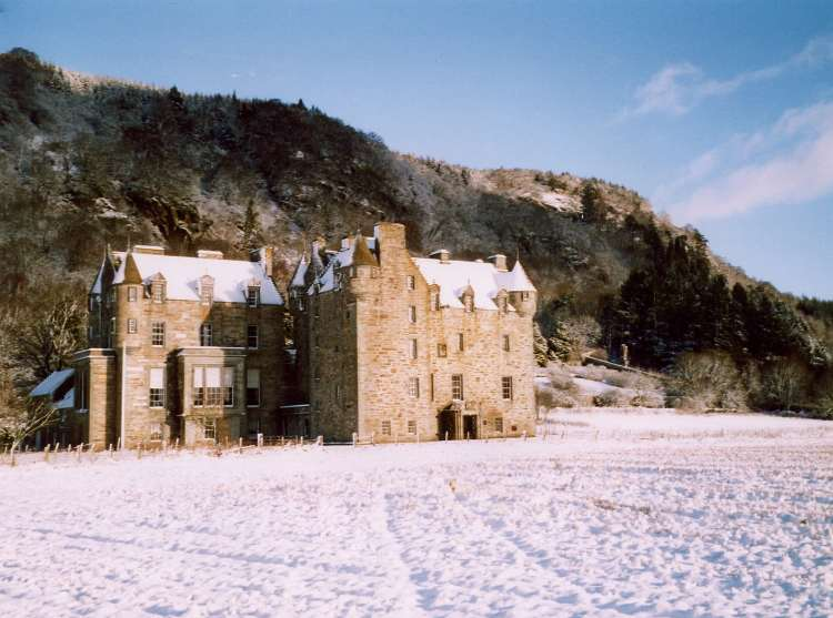 View of Castle Menzies in the Winter